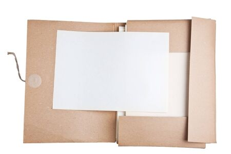 old file with blank paper Stock Photo - 13706830