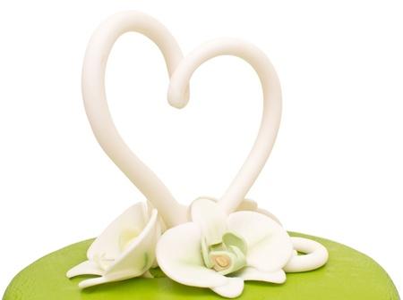 cake tier: a green wedding cake