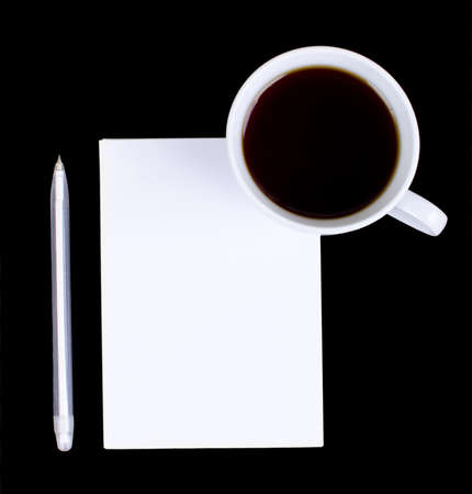 Blank notes on a desk with cup of coffee Stock Photo - 16138638