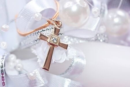 small crucifix on chain photo