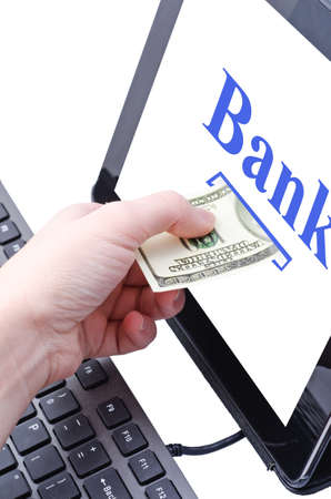 online banking for computer-Cash Stock Photo - 17445569
