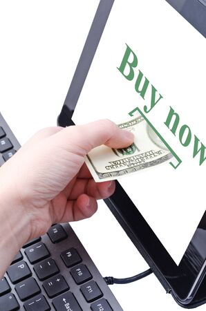 online banking for computer-Cash Stock Photo - 17445590