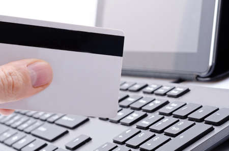 online banking on computer Stock Photo - 17445637