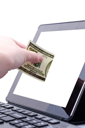 online banking for computer-Cash Stock Photo - 17445544