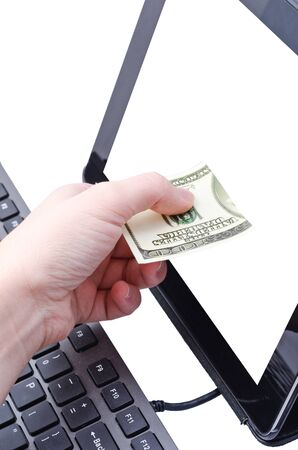 online banking for computer-Cash Stock Photo - 17445547