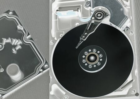 a hard disk cylinder, macro Stock Photo - 17445482