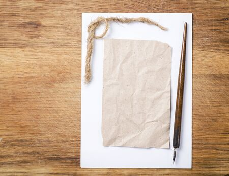 a letter on wooden desk Stock Photo - 17445711