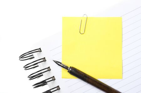 a letter with pen on white photo