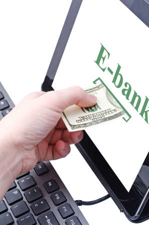 online banking for computer-Cash Stock Photo - 17445588