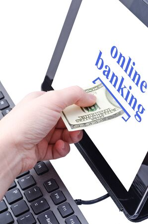 online banking for computer-Cash Stock Photo - 17445571