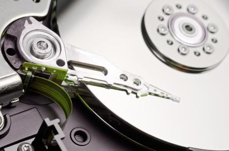 a hard disk cylinder, macro