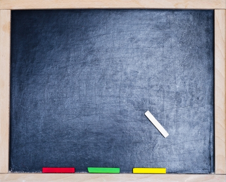 a blackboard with colod chalk photo