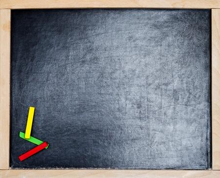 blankness: a blackboard with colod chalk
