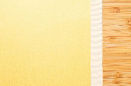 texture paper with ribbon and wooden desk with copy space Stock Photo - 18903782