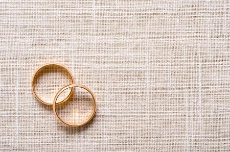 boda: los anillos de boda Foto de archivo