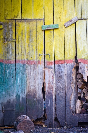 Old grungy wooden door texture photo