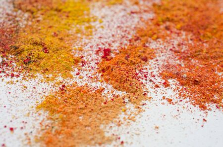 colored powder: colored powder on white Stock Photo