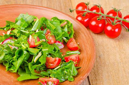 tomato cherry: tomato cherry on wooden board