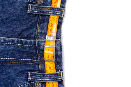 lose weight: jeans with lose weight  tunnel Stock Photo