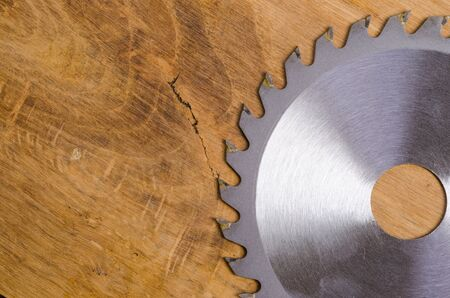 stainless steal: Circular saw blade for wood work on wood board