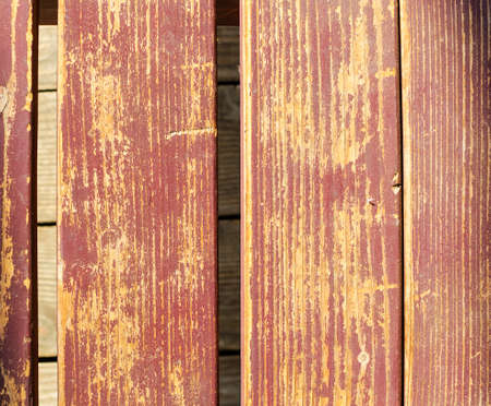 chink: the old wooden brown background, vertacal line Stock Photo