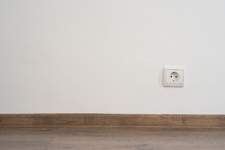 electrical outlet on white wall. home design Reklamní fotografie