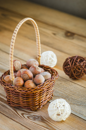 full willow: hazelnuts Stock Photo