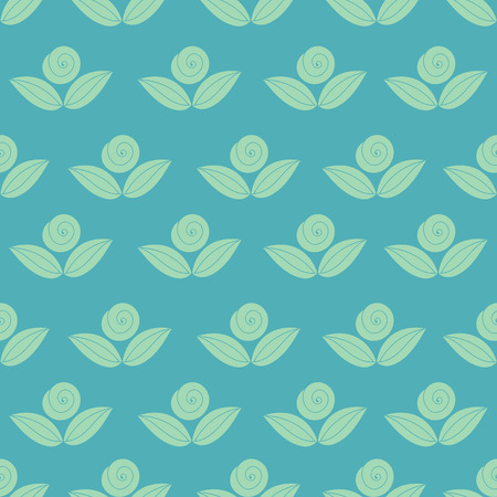 flower rose: seamless simple pattern with flower, rose, stems Illustration