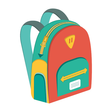 schoolbag: schoolbag, vector icon backpack