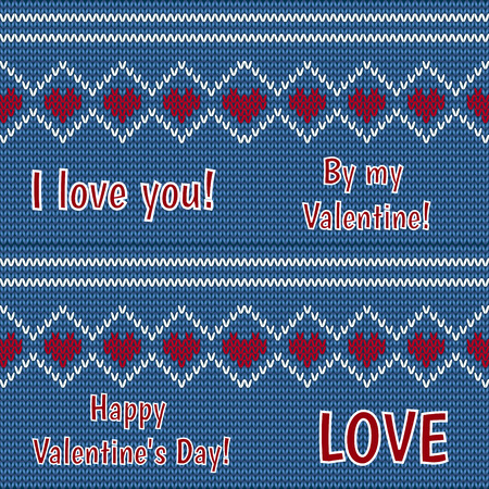 card - congratulations on Valentines Day on a black background Vector