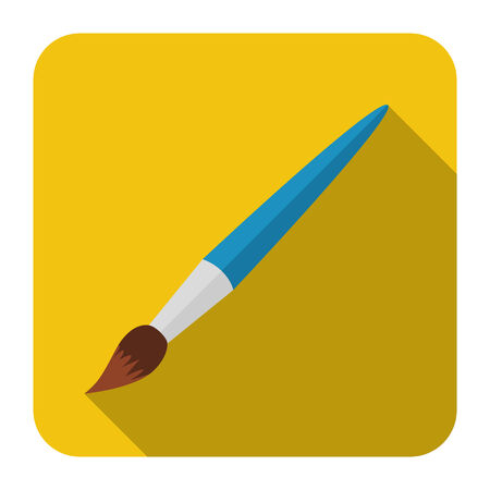 brush in: vector icon art brush in flat design Illustration