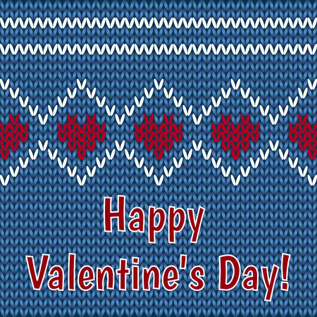 vector card - congratulations on Valentines Day on a black background Vector
