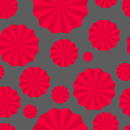 turntables: Vector seamless pattern paper fans, pompoms, paper torch, turntables Illustration