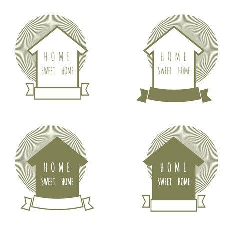 renovate: vector emblem home sweet home