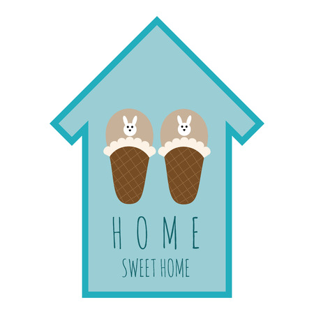 home sweet home: vector emblem home sweet home
