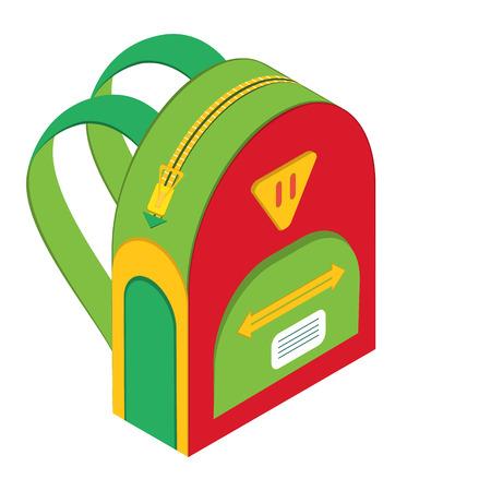 vector schoolbag, vector icon backpack