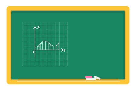 integral: pizarra y tiza vector, gr�fico gr�ficos