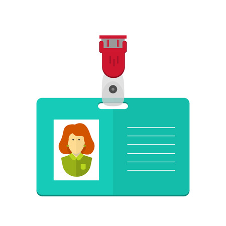 vector identity card of the person, badge, identification card. flat design.