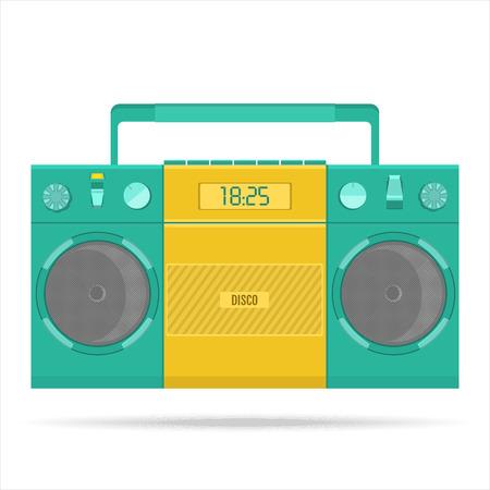 grabadora: grabadora retro para casetes de audio Vectores