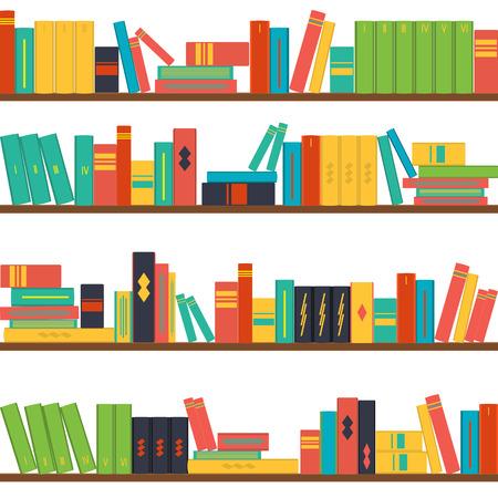 repetition row: vector illustration seamless pattern bookshelves