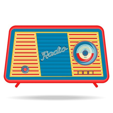 retro radio: vector retro radio, retro appliances