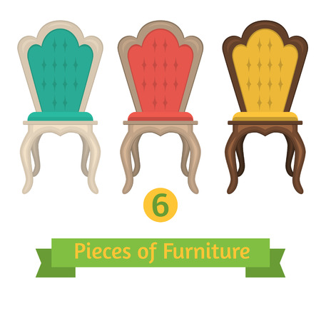 vector set of chairs pillows Vector