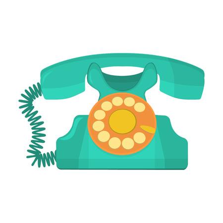 cable telefono: objeto vectorial tel�fono retro, viejo tel�fono de disco