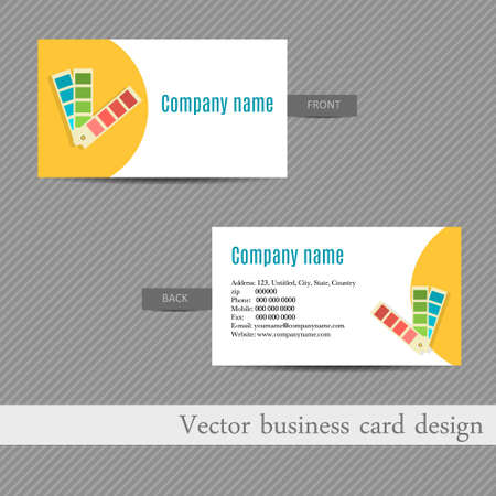 advertising agency: business card design for an advertising agency Illustration