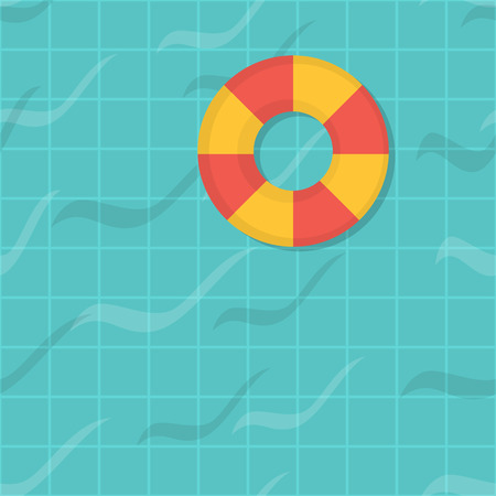seamless pattern swimming pool.  Illustration