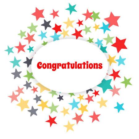 congratulations: tarjeta de felicitaci�n felicitarlo. Vectores