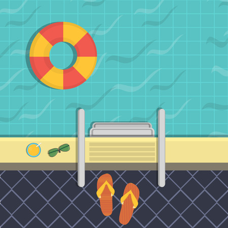 natacion: ilustración - una piscina, una vista desde arriba.