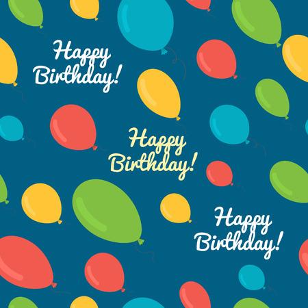 seamless pattern balloons birthday. Vector