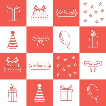 birthday party: seamless pattern Birthday, birthday party Illustration