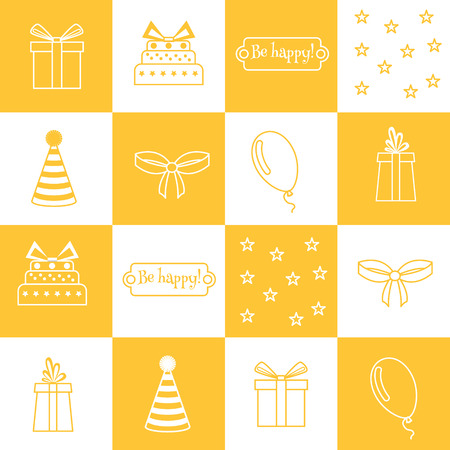 Vector seamless pattern Birthday, birthday party Vector